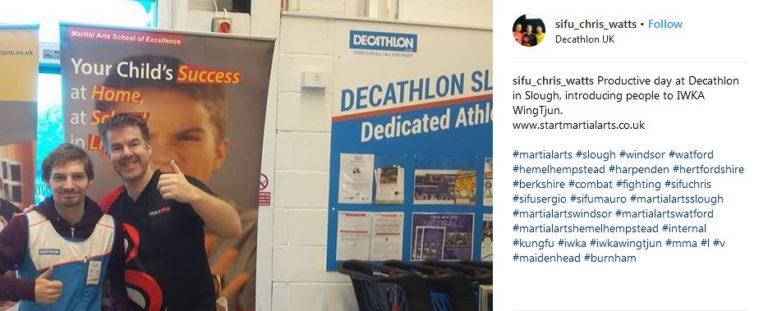Decathlon and IWKA WingTjun martial arts event