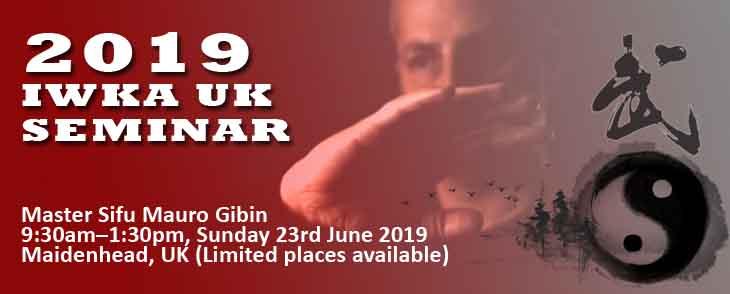 2019 IWKA Kung Fu Seminar info & booking